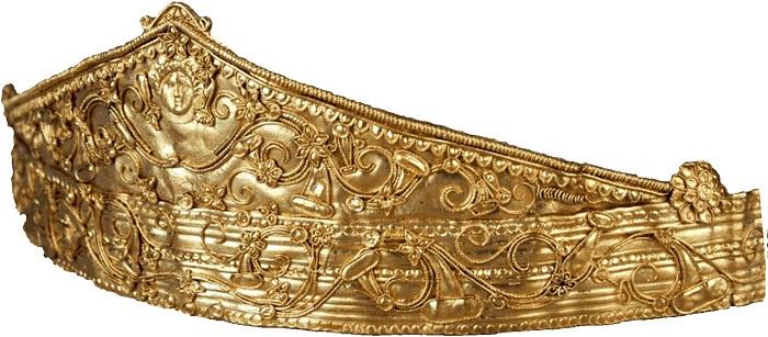 Диадема с изображением головы Гелиоса - бога Солнца